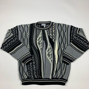Vintage 90s Coogi Style Pullover Sweater